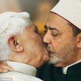 The-Italian-clothing-company-Benetton-has-been-heavily-criticized-by-the-Vatican-for-using-an-image-of-Pope-Benedict-kissing-an-imam-on-the-mouth-in-its-latest-shock-advertising-campaign-160x160