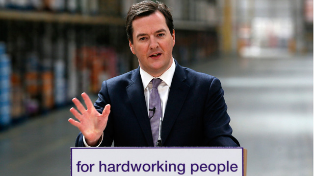 George Osborne announcing welfare reforms